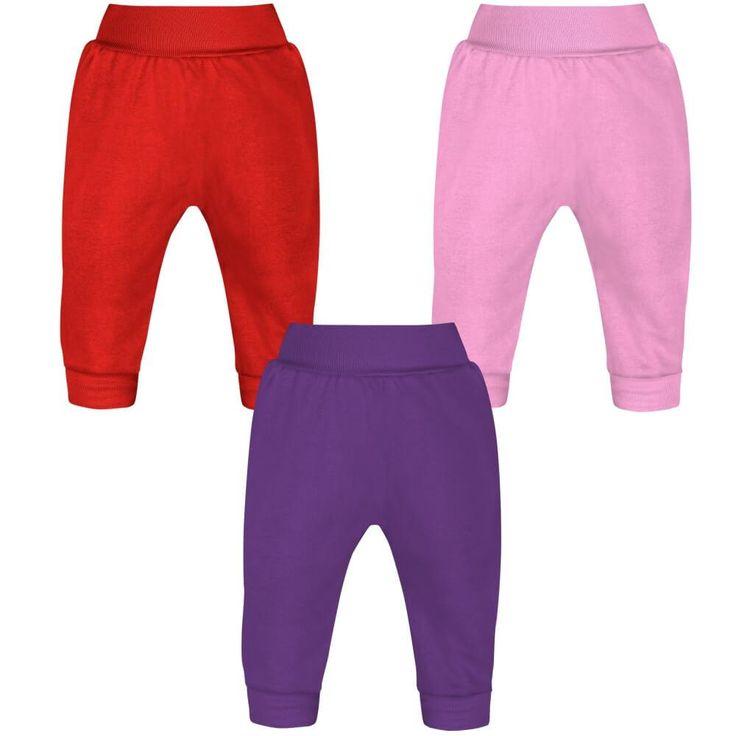 Lot de 3 Pantalons bébé fille (3 couleurs)