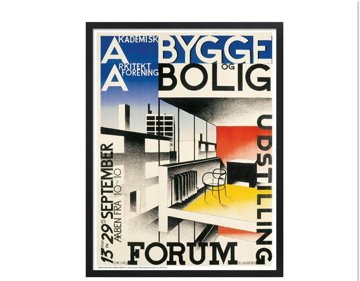 Bygge og Bolig Forening | hos Plakatgalleri.dk #ibandersen #plakatgalleri