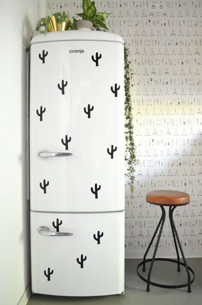 DIY | Cactus Fridge - Contact Paper Stickers                                                                                                                                                     More