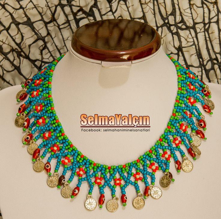 Necklace bead paralı boncuk kolye otantik boncuk