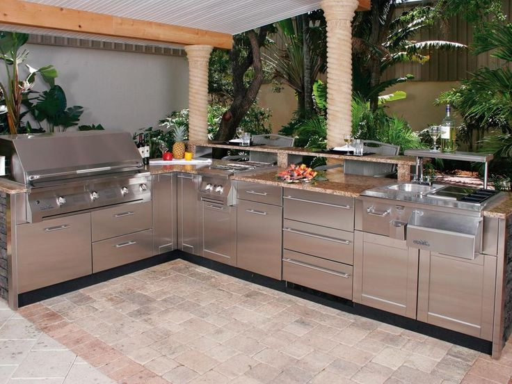outdoor kitchen kits with nature decor idea minimalist home plans within outdoor kitchen kits