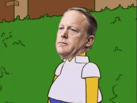 New party member! Tags: sean spicer bushes spiceman sean spicer bushes