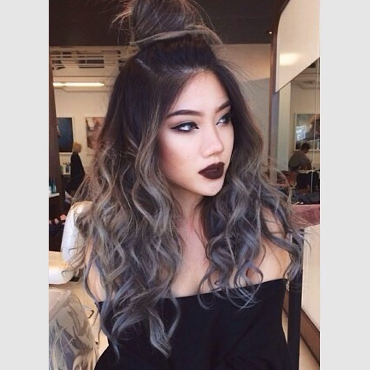Brown to grey ombre