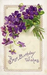 Vintage birthday greetings ..... Sweet Violets