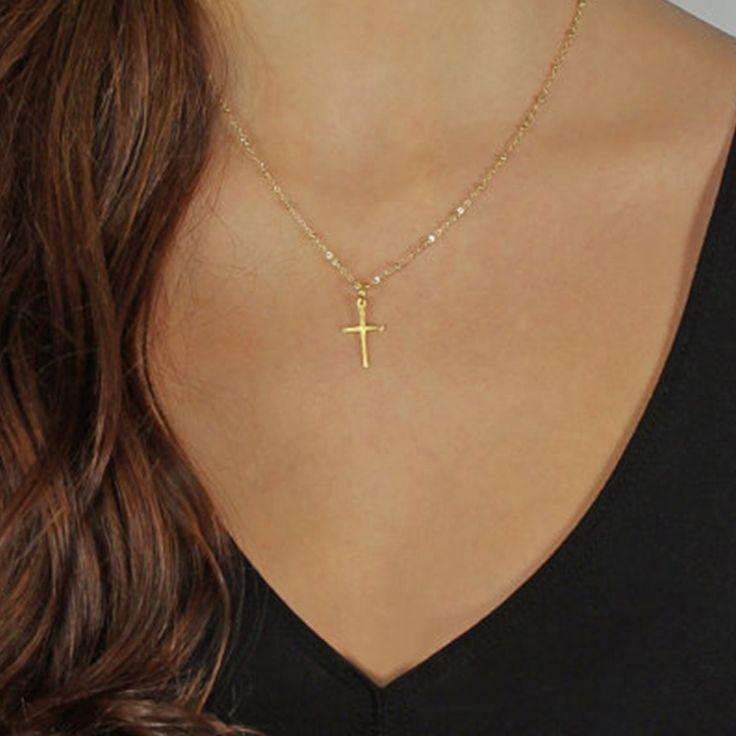Goldkette damen kreuz  Die besten 25+ Goldkreuz halsketten Ideen auf Pinterest ...
