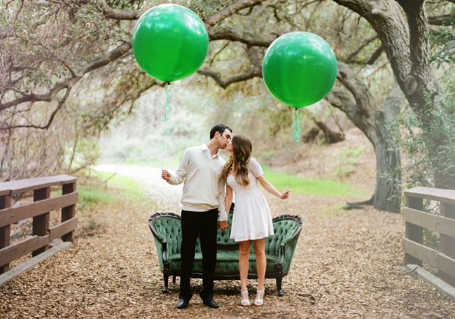 Emerald Green Engagement Photos: Jessica + Michael