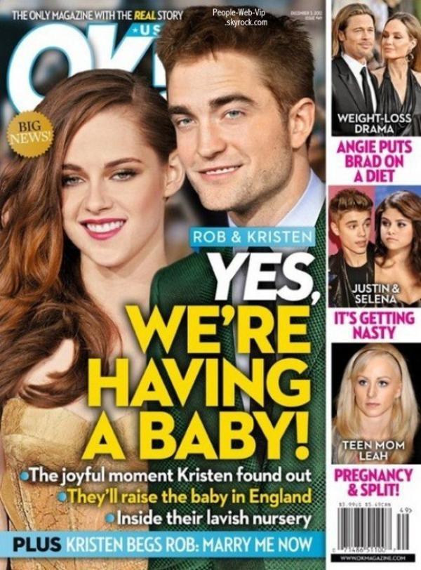 BREAKING NEWS : RUMEUR : Kristen Stewart serait enceinte de Robert Pattinson