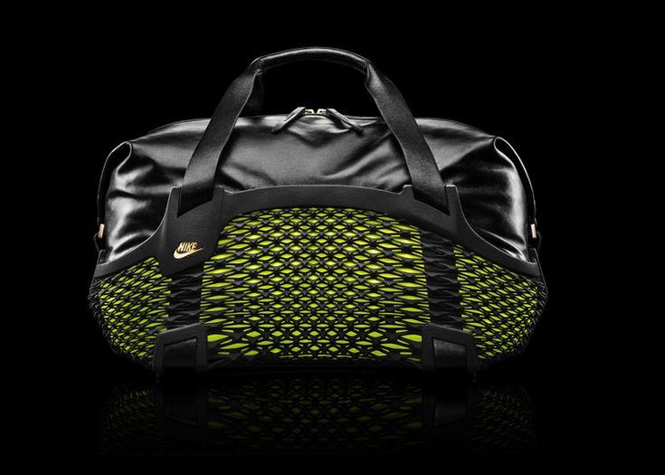 NIKE presents rebento duffel: a 3D printed performance leather sports bag - designboom   architecture
