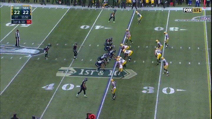 Final play of 2014 NFC championship game.  WIlson to Kearse.