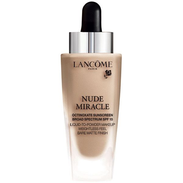Lancome Nude Miracle Weightless Foundation Weightless Foundation (760 MXN) ❤ liked on Polyvore featuring beauty products, makeup, face makeup, foundation, lancôme, powder foundation, lancome face makeup and lancome foundation