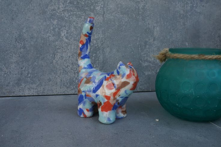 Colorful kitten that will brighten your room. Room decoration, by ankaGilding on Etsy