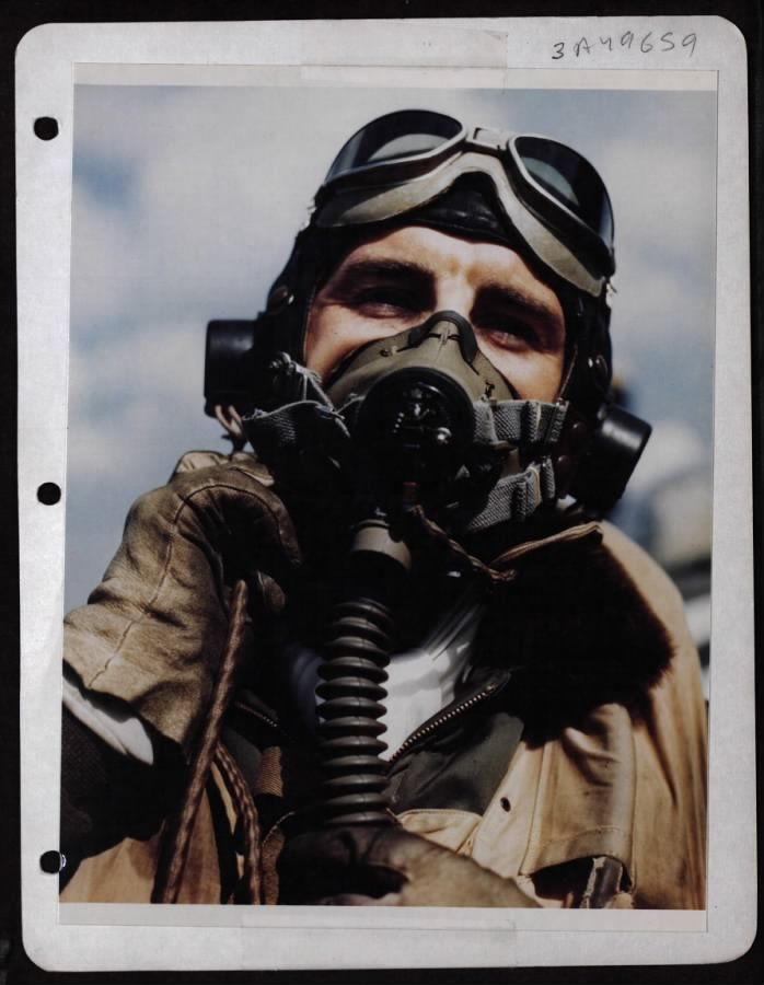 Lt. Col. Francis S. Gabreski, Leading Ace Of The 8Th Air Force. P-47 Pilot. England.