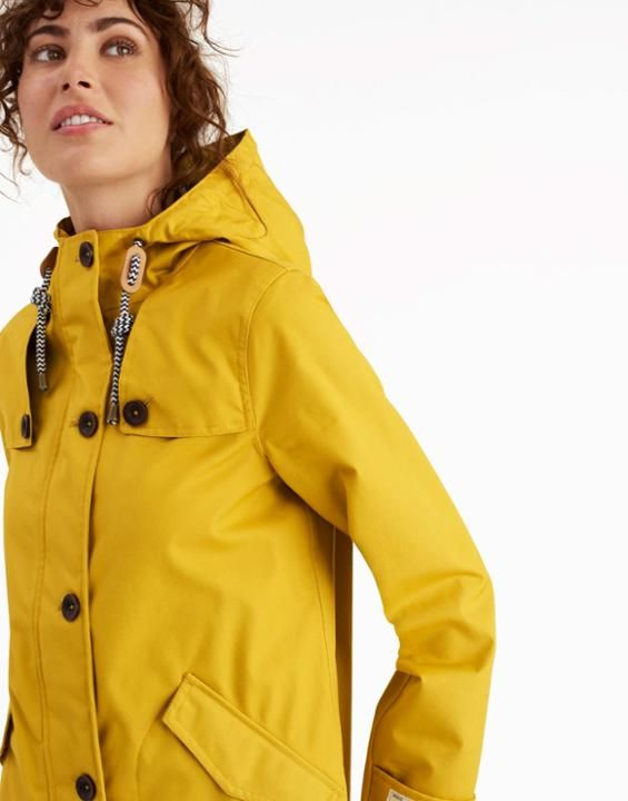 Joules UK COAST Womens Waterproof Jacket Antique Gold