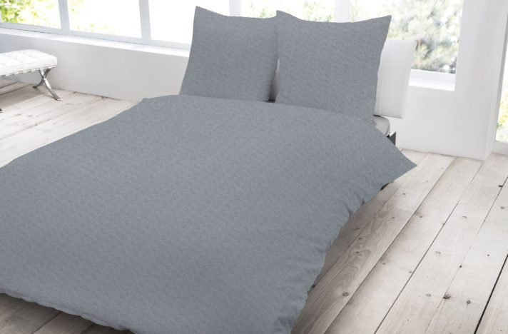 Bettwäsche 200x200 cm Streifen stein grau BIBER