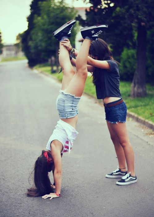 I do this love cause I can't do a handstand