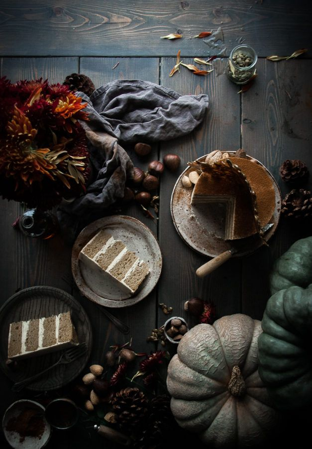 Pumpkin Layer Cake + Egg Nog German Buttercream & Pumpkin Seed Brittle - The Kitchen McCabe