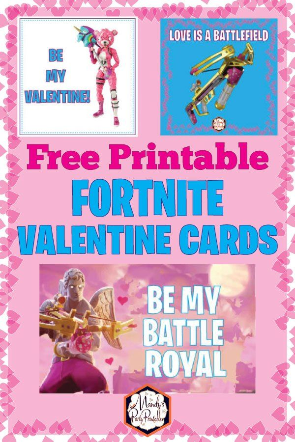 Free Printable Fortnite Valentines Card | Awesome Party ...