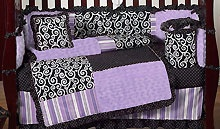 love the purple & black together :) Kaylee Modern Nursery Theme