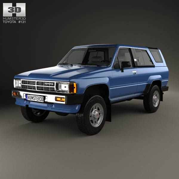 Toyota 4Runner 1986 3d model from humster3d.com. Price: $75
