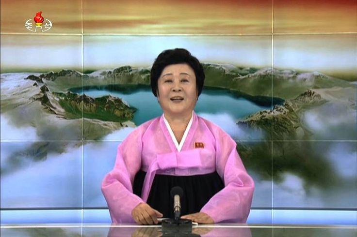 Em algum lugar ao norte do paralelo 38, a terra tremeu inesperadamente no domingo (3). Depois veio a declaração trovejante de uma avó norte-coreana em um vestido tradicional cor-de-rosa.
