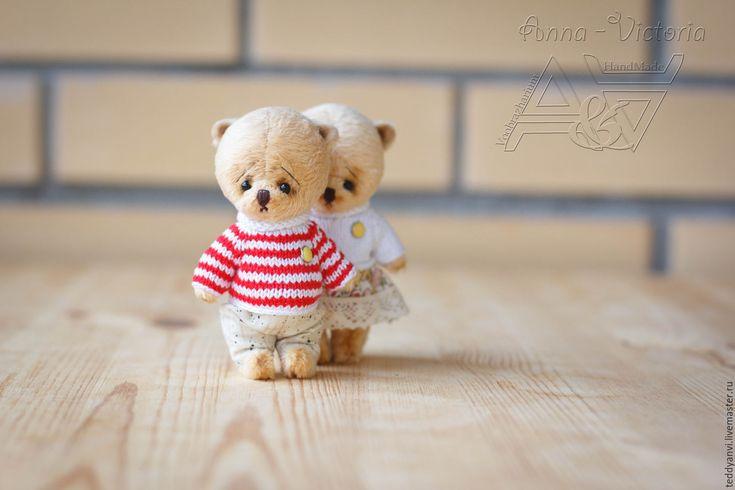 Купить Любовь - это... - бежевый, тедди, подарок девушке, влюбленная пара, для влюбленных, мишка ручной работы