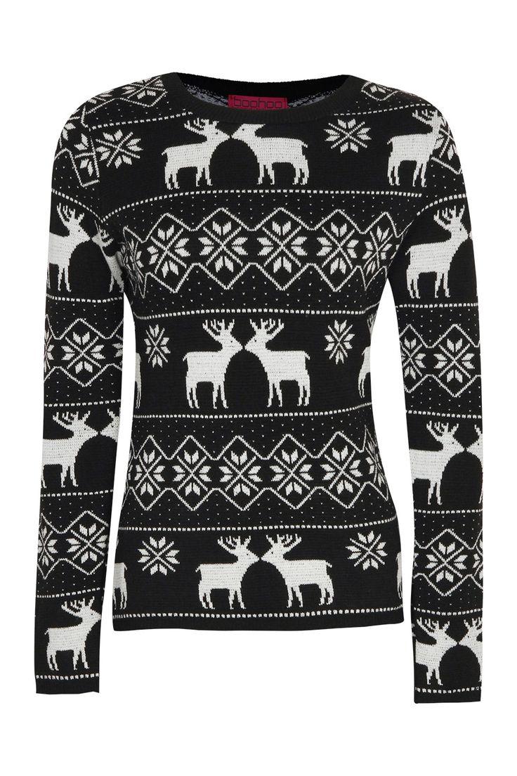 Christmas Sammie Reindeer Fairisle Jumper / by Boohoo