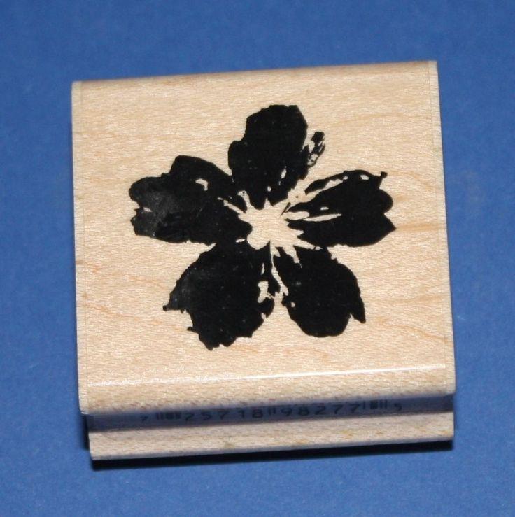 NEW Inkadinkado  Belle Fleur  Wooden Backed Rubber Stamp 98277MM