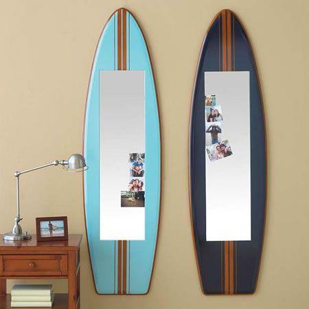 Espejos en forma de Tabla de Surf