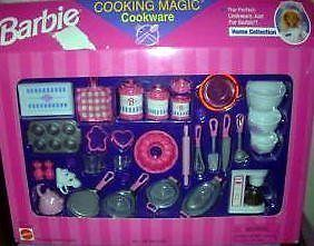 1997 Mattel Barbie Cooking Magic Cookware Fun Fixin Playset | eBay