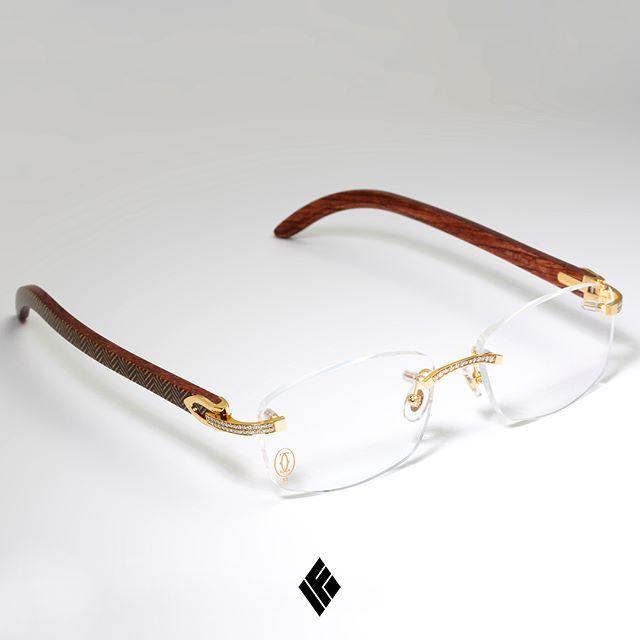Custom Diamond Servicing On Cartier Glasses Intricately Pave Set With White Vs Diamonds On Bridge End Pieces Specially C Custom Glasses Glasses Vs Diamond