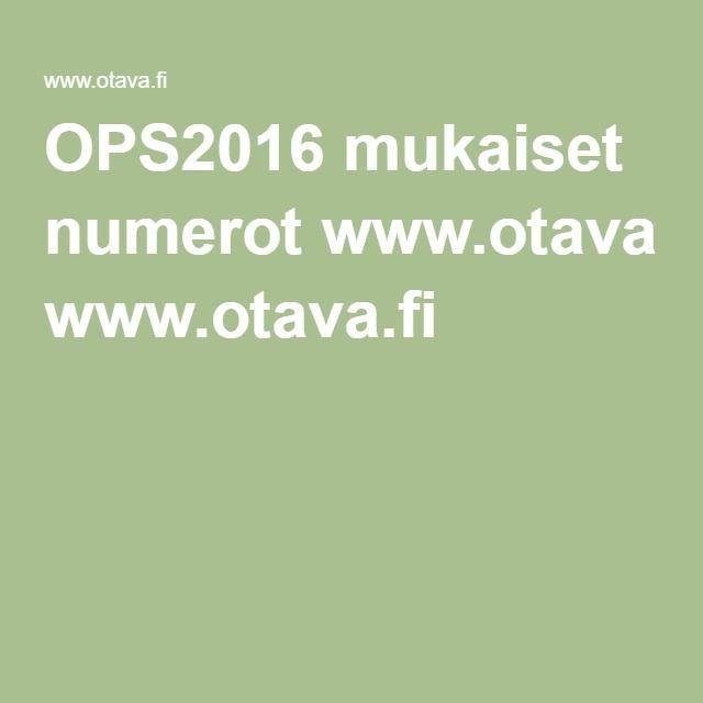 OPS2016 mukaiset numerokortit seinälle (Tuhattaituri) www.otava.fi