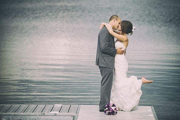 T & J's wedding held at Brookstreet #Brookstreet #OttawaWedding #PurpleBouquet