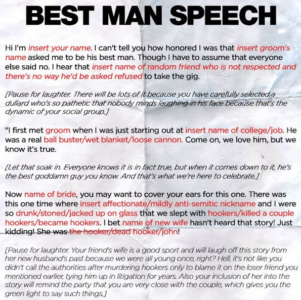 funnyordie template for any best man speech wedding season is upon us and if