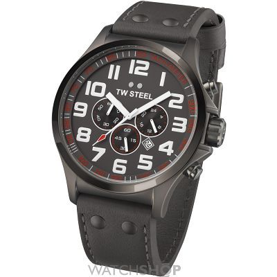 Mens TW Steel Pilot 45mm Watch TW0422