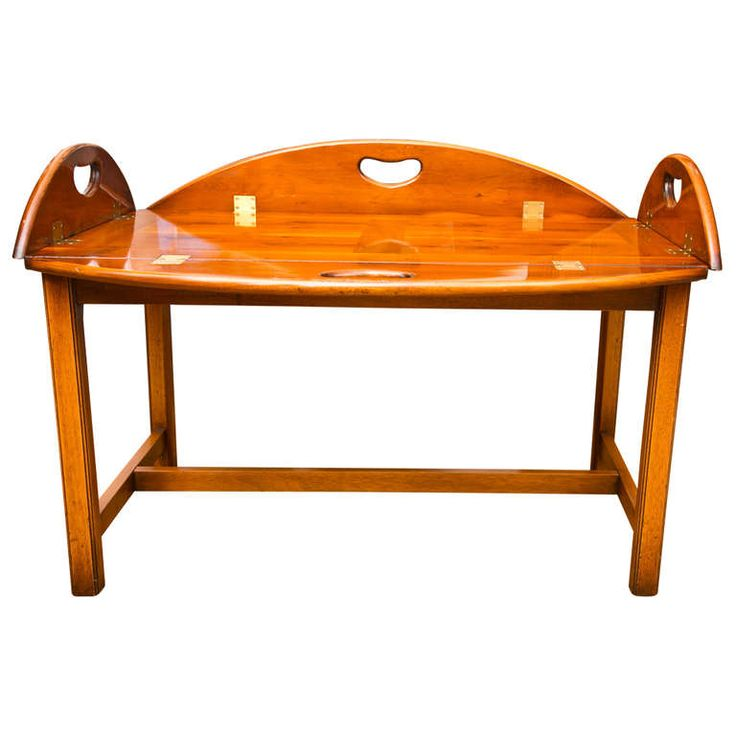 Antique British Yew Wood Butler 39 S Tray Table Tray Tables Trays And Coffee Tables