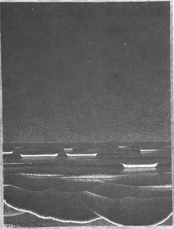M.C. Escher - 1933 - Lichtende zee