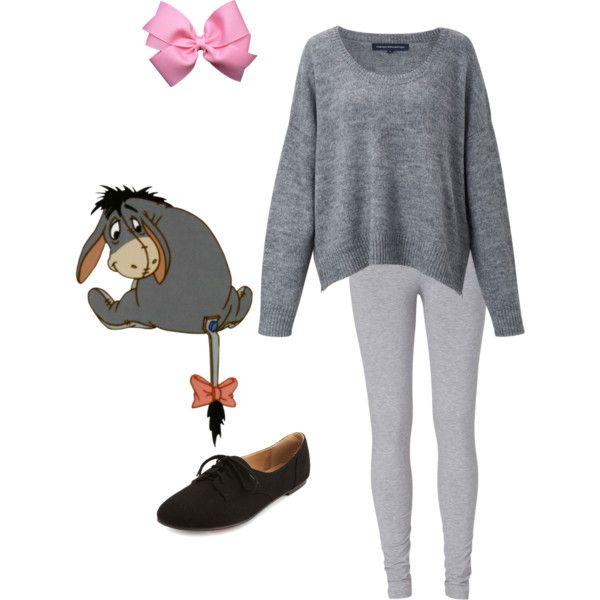 Disneybound: Eeyore - Polyvore