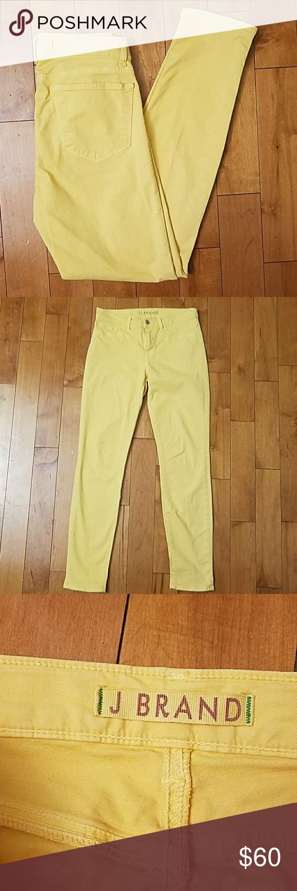 """J Brand Canary Yellow Skinny Jeans J Brand Canary Yellow Skinny Jeans.   Size 27.  The oerfect sunnt yellow color for spring and summer!  98% cotton,  2% lycra.  14.5"""" across the waist.   29"""" inseam. J Brand Jeans Skinny"""
