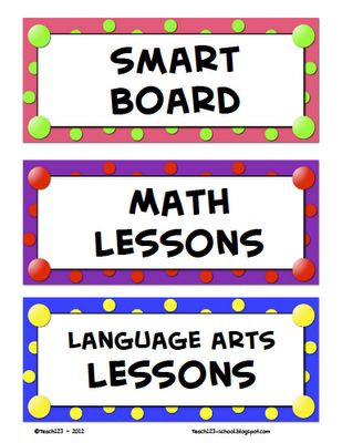 School Stuff / Great ideas for clothes pins, plus labels and some smart board lessons