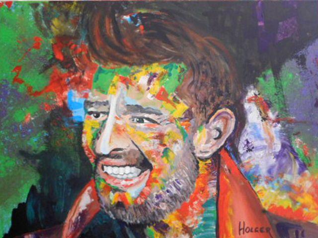 Ricky Martin: by holger 75x100 cm