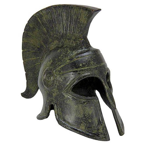 Greek Helmet Ancient Corinthian Helmet Bronze Sculpture
