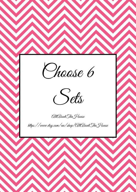 Choose 6 Sets - Create Your Own Planner Kit - Printables - PDF - Chevron - Household Binder - Printable Planner https://www.etsy.com/au/listing/166373537/choose-6-sets-create-your-own-planner?ref=shop_home_active