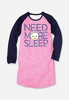 More Sleep Emoji Nightgown