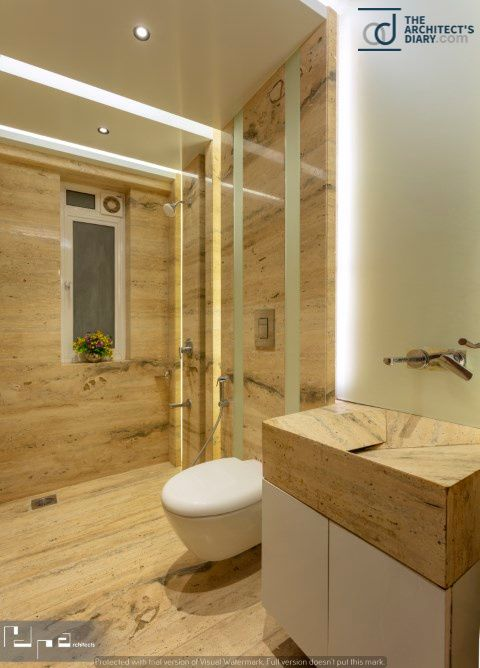 Dark Symposium Residence At Nashik Modern Bathroom Design