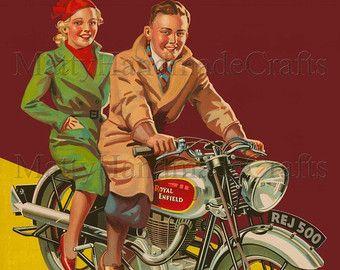 Silver Bullet Royal Enfield Motorcycle 1930s Advertising