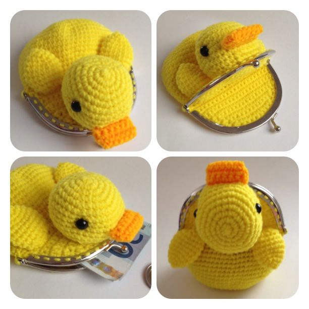 http://www.aliexpress.com/store/1687168 Crochet duck purse More Más