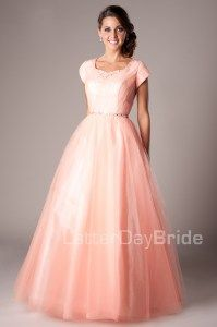 Modest Prom Dresses : Skylar -Mormon LDS Prom Dress