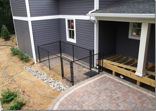 Backyard Dog Run Ideas i like the look and security of this fence for a dog run The L Shaped House The Backyardthe Dog Run Dog Run Looks A Little Small For Our Girls I Like The Paver Patio Though Backyard Inspiration Pinterest