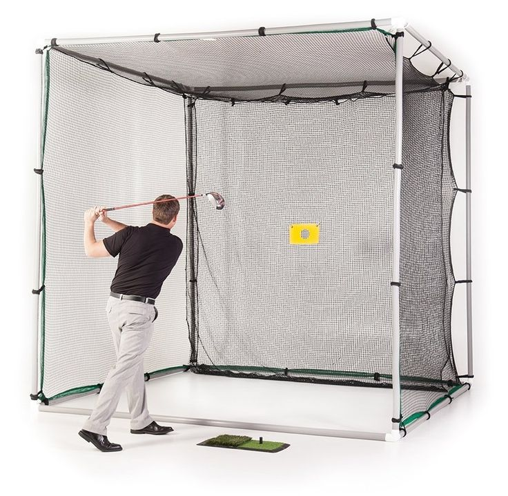 Perfect for home or course this swing cage PVC golf practice driving hitting net by Allsports US features a pro grade high strength net and impact panel to handle all of your golf shots