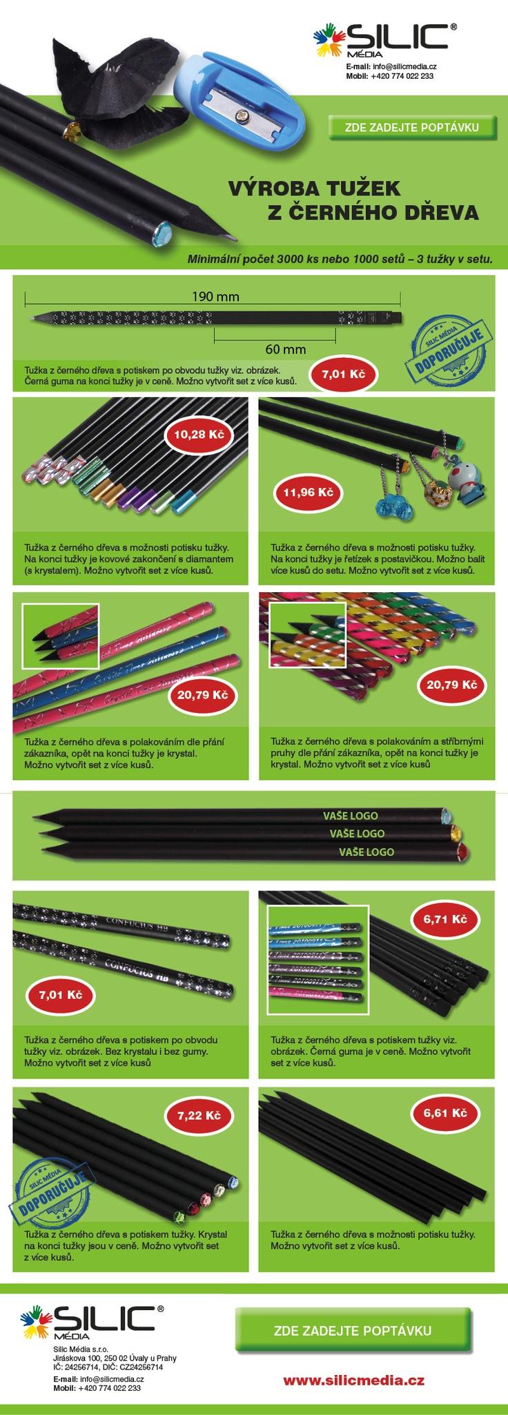 černé reklamní tužky